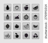 fruit icon set | Shutterstock .eps vector #270591014