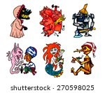 illustration set fairy tales... | Shutterstock .eps vector #270598025
