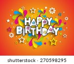 happy birthday greeting card... | Shutterstock .eps vector #270598295