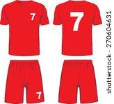 Set Of Soccer Uniform Front An...