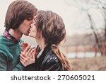 outdoor portrait of young... | Shutterstock . vector #270605021
