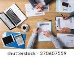 business people team working... | Shutterstock . vector #270607559
