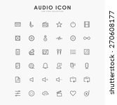 36 audio line icons | Shutterstock .eps vector #270608177