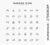 6x6 car and garage minimal line ... | Shutterstock .eps vector #270608189