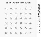 36 transportation minimal line... | Shutterstock .eps vector #270608201