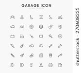 36 car and garage minimal line... | Shutterstock .eps vector #270608225