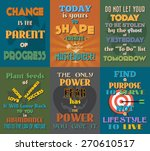 unusual motivational and... | Shutterstock .eps vector #270610517