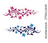 decorative vine. editable... | Shutterstock .eps vector #270611645