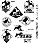 dog  cat  logo  pet store  care ... | Shutterstock .eps vector #270613115