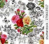 beautiful romantic seamless...   Shutterstock .eps vector #270613517