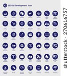 42 seo and development icon for ... | Shutterstock .eps vector #270616757