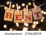 the word rent printed on... | Shutterstock . vector #270618929