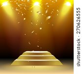 podium in the rays of light... | Shutterstock .eps vector #270626555
