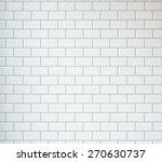 white vintage tiles background | Shutterstock . vector #270630737