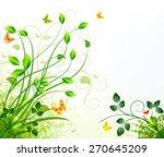 floral background design | Shutterstock .eps vector #270645209