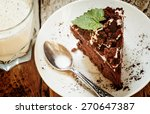 Delicious Chocolate Cake On...