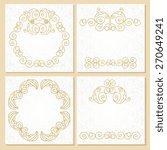 ornate set element for design ...   Shutterstock .eps vector #270649241