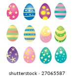vector egg collection   Shutterstock .eps vector #27065587