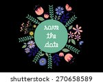 save the date card | Shutterstock .eps vector #270658589