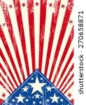 american poster sunbeams... | Shutterstock .eps vector #270658871