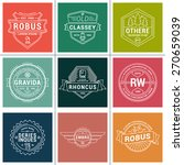 set of thin line hipster labels ... | Shutterstock .eps vector #270659039