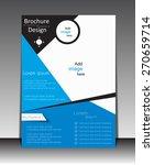 vector flyer  brochure ... | Shutterstock .eps vector #270659714