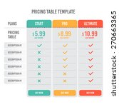 pricing table template with... | Shutterstock .eps vector #270663365