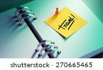 closeup yellow sticky note... | Shutterstock . vector #270665465
