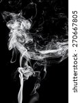 abstract white smoke on black... | Shutterstock . vector #270667805