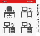 desks icons. professional ... | Shutterstock .eps vector #270678971