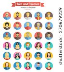 set of men and women avatars... | Shutterstock .eps vector #270679229