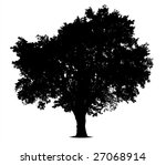 silhouette of a tree | Shutterstock . vector #27068914