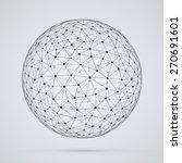 global  network  sphere.... | Shutterstock .eps vector #270691601
