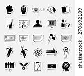 soccer sticker icons set vector ... | Shutterstock .eps vector #270692189