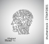 circuit board human head  eps... | Shutterstock .eps vector #270692801