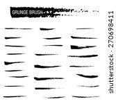 vector set of grunge brush...   Shutterstock .eps vector #270698411