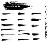 vector set of grunge brush... | Shutterstock .eps vector #270698627