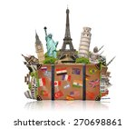 famous monuments of the world... | Shutterstock . vector #270698861