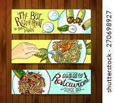 beautiful hand drawn banners... | Shutterstock .eps vector #270698927