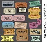 great vintage tickets...   Shutterstock .eps vector #270699629
