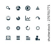 diagram icons set on white... | Shutterstock . vector #270701771