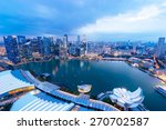Singapore View With Urban...