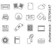 data storage media black simple ... | Shutterstock .eps vector #270704147