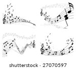 musical designs sets with... | Shutterstock .eps vector #27070597