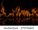 fire flames on black background | Shutterstock . vector #270706841