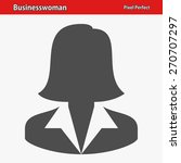 businesswoman icon....   Shutterstock .eps vector #270707297