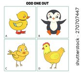 odd one out child game vector...   Shutterstock .eps vector #270707447
