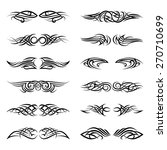 vector tribal tattoos. pattern... | Shutterstock .eps vector #270710699
