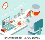 medical research 3d isometric... | Shutterstock .eps vector #270710987