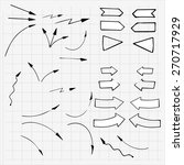 hand drawn arrows made in... | Shutterstock .eps vector #270717929